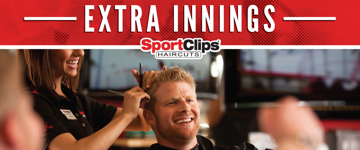 The Sport Clips Haircuts of Newport Extra Innings Offerings